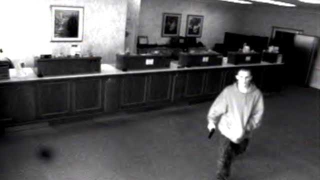 Surveillance image of bank robbery suspect