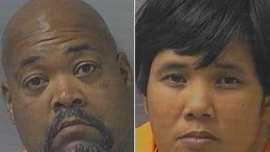 Khalid Sheffield, left, and Kathleen Duenas, right