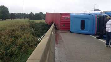 Police are investigating a Thursday morning crash involving a tractor-trailer on eastbound Interstate 40 at the Highway 68 bridge.