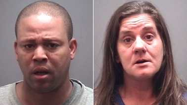 Terry William Davis, left,and Kristi Deon Caroon, right
