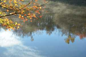 This is a reflection image at Julian Price Lake.