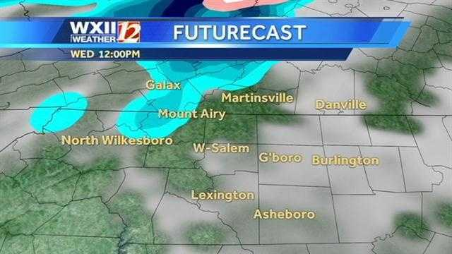 Our mountain counties could see a taste of snow Thursday. Check the WXII futurecast images from Michelle Kennedy. | Watch Michelle's forecast