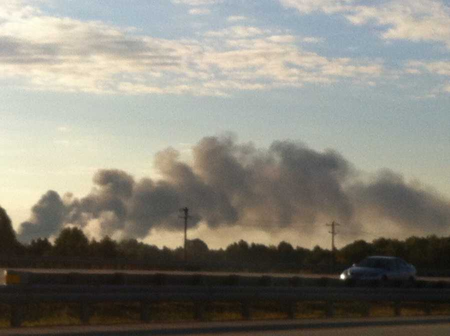Drivers along I-40 are reporting the fire to WXII. The location of the fire is near Groometown Road.