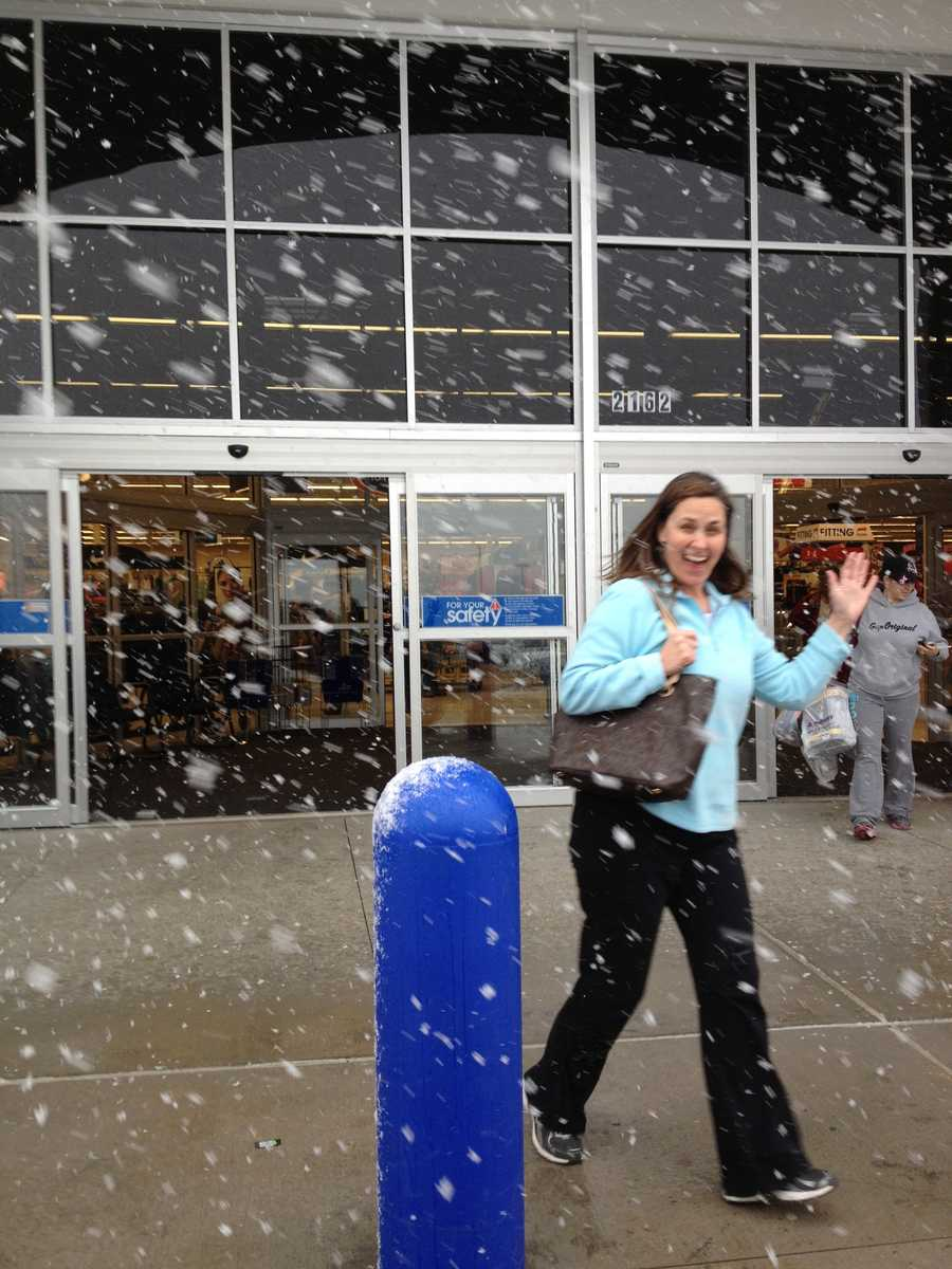 10. Austin is eager to shop with his wife when it's snowing.