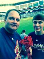 1. Austin and his son are fans of the Atlanta Braves. They even went to two playoff games during the 2013 postseason.