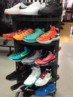 5. Austin is a fellow shoe-head with his son when it comes to shopping for basketball shoes.