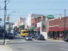 2. The center of downtown is Pine Street. Mount Airy's population is 10,436 (Surry County's is 73,561.)