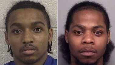 Justin Omar James, left, and Teshun Cortez Richardson, right