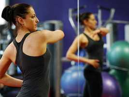 6. Exercise hard, not longer. Work with a personal trainer to get the most out of each minute you're working out.