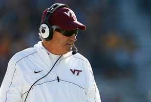 6. Born in Mount Airy, Virginia Tech football coach Frank Beamer. He grew up in Fancy Gap, Va., and has won more than 220 games for the Hokies.