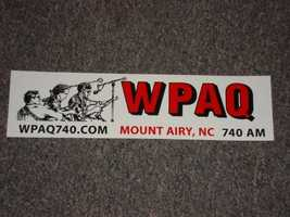 14.Mount Airy's WPAQ 740 AM radio is one of the few Bluegrass and Old-Time music stations still operating and has been airing the live radio show Merry-Go-Round from the Downtown Cinema Theatre since 1948.
