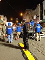 The WXII 12 crew is hard at work in Mount Airy. They're setting up lights, cameras, chairs, and much more.