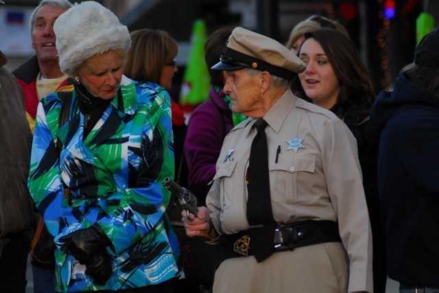 Deputy Fife showed up to keep the peace