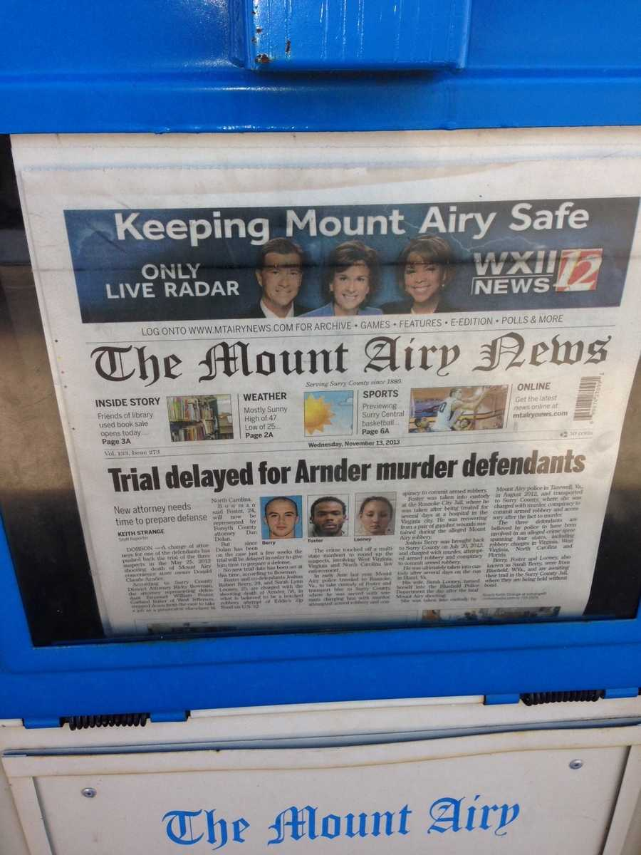 Our news gathering partner, The Mount Airy News, was ready for our visit!