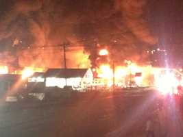 Here are viewer and WXII photos from Saturday night's North Wilkesboro fire.