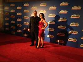 Nicole and Josh Sobecki on red carpet