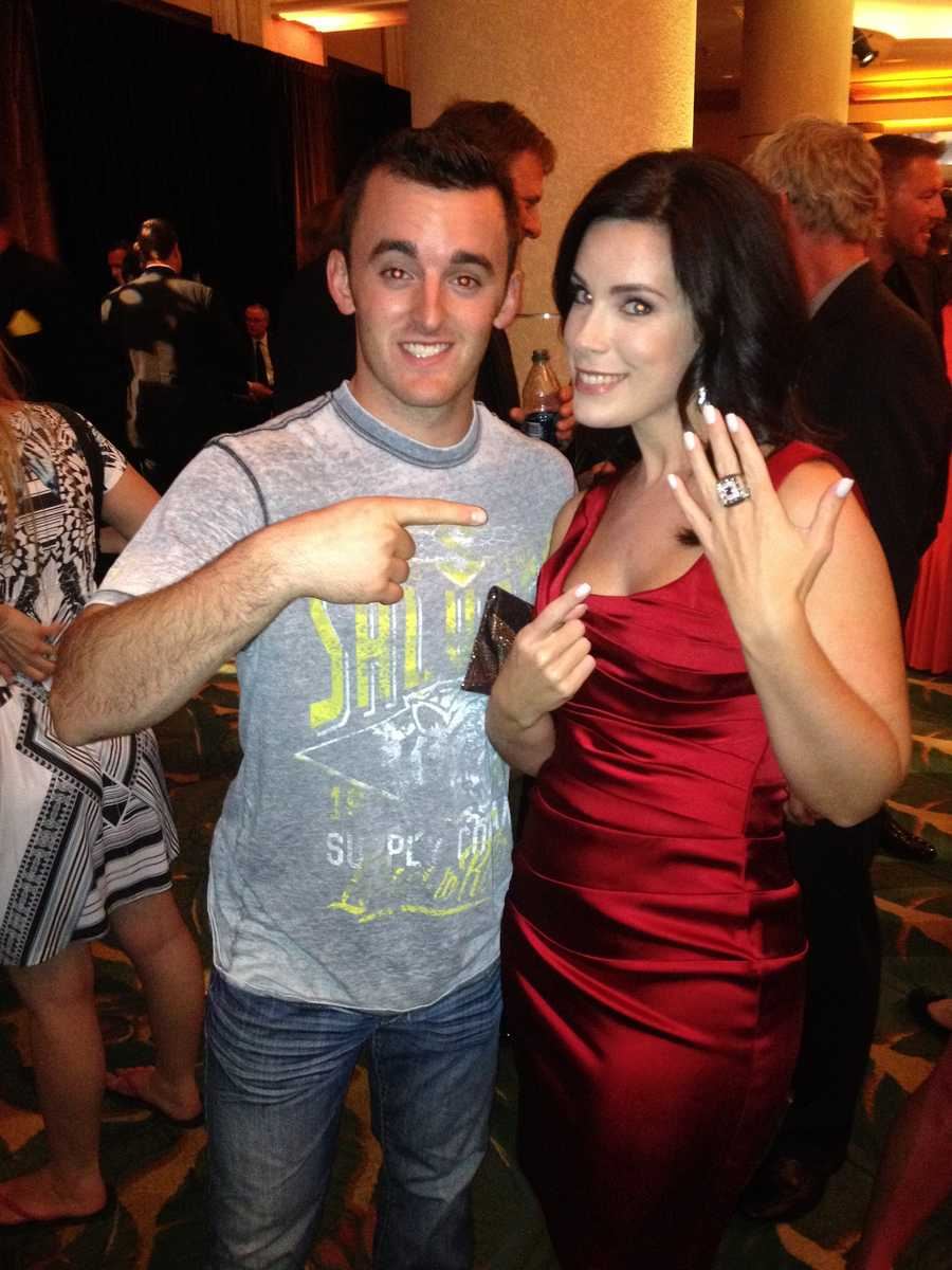 Austin Dillon letting Nicole wear the championship ring