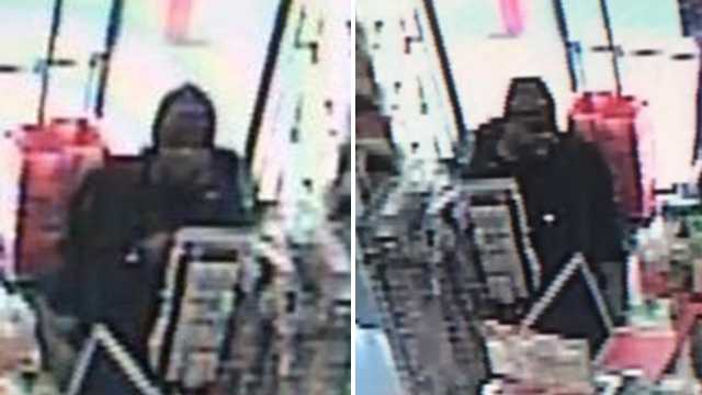 Surveillance images of Sally Beauty Supply robbery suspect