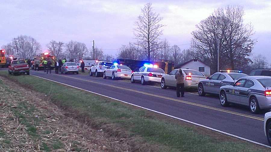 The crash happened around 7:15 a.m. on Summertime Road off Sugartown Road about five miles northeast of Yadkinville. Officials at the scene classified the injuries as minor.