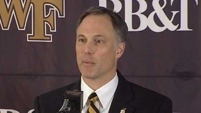 Dave Clawson speaks at his introductory news conference on Dec. 10, 2013.