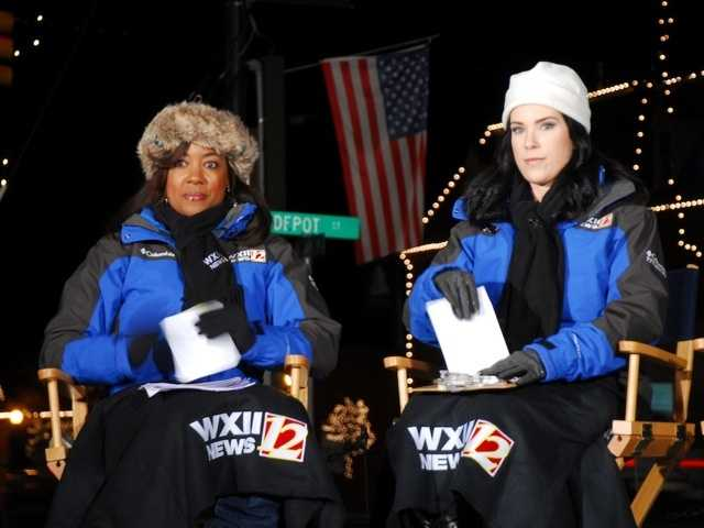Talitha Vickers and Nicole Ducouer are ready for our live broadcast from Mocksville in Davie County.