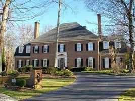 This five bedroom Winston-Salem Estate is situated on almost two acres and priced at $1,395,000.