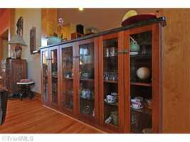 Custom Cabinets located in the great room and kitchen