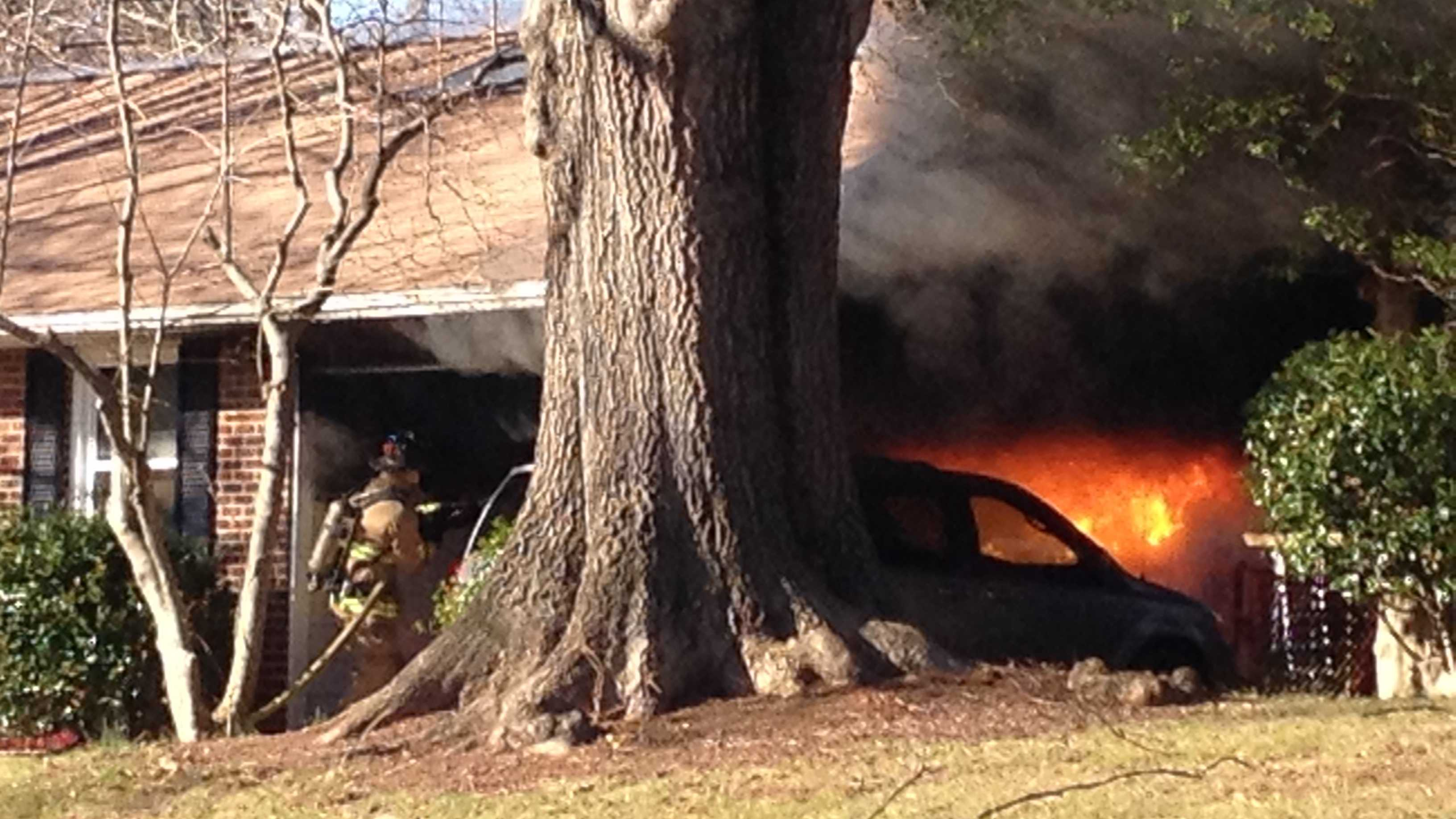 A WXII 12 'u local' viewer sent this photo of a fire on Lancelot Lane.