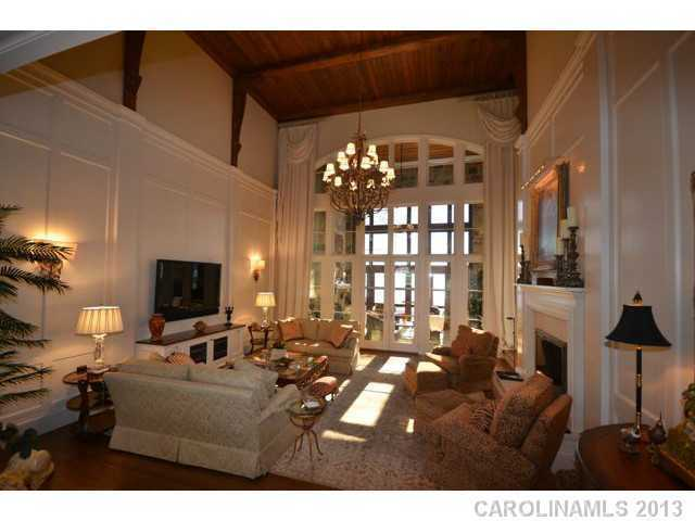 Grand Room with a wood ceiling
