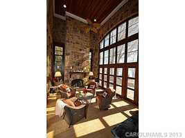 Screened Porch with views of Lake Norman