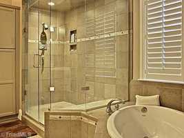 Master Bathroom with a steam shower