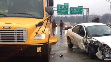 School bus crash in Winston-Salem
