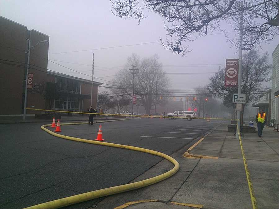 Officials said the fire was reported at 5:09 a.m. at Carver's on Elm. That's on West Elm Street.