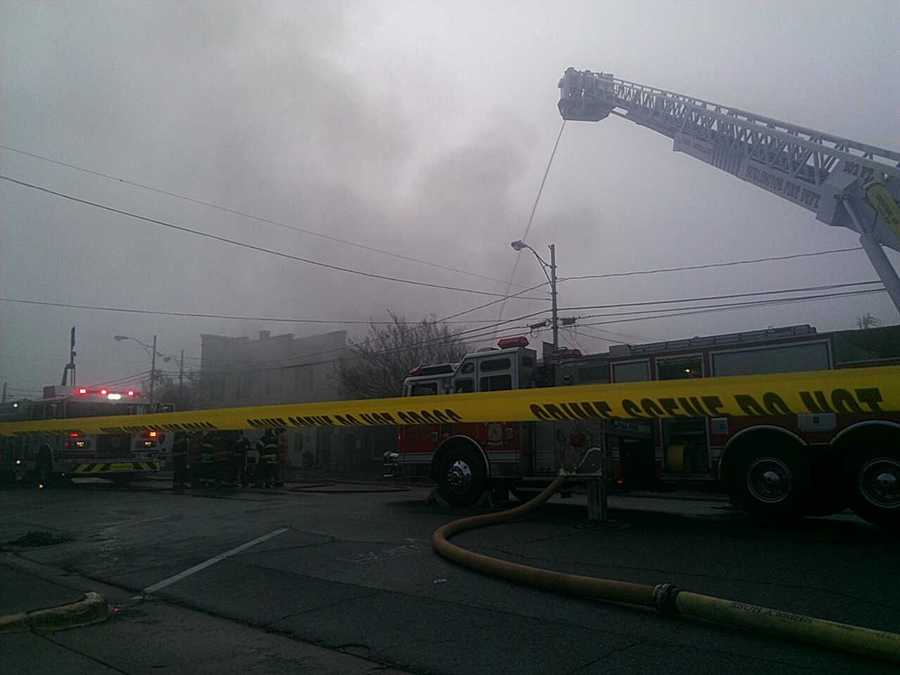 Authorities said the fire at one point was threatening Graham Furniture Mart, which is next door to the restaurant.