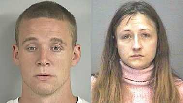 Brian Bourn, left, and Theresa Chapman, right