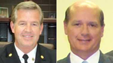 Thomasville Fire Chief Martin Dailey, left, and Councilman Scott Styers, right
