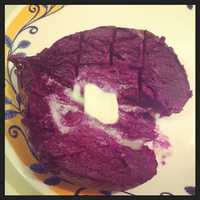 One thing you can find at Priddy's General Store is a purple sweet potato! The store sells the unique potatoes that are grown in Stokes County.