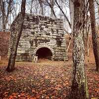 Part of Moratock Iron Furnace still stands near the Dan River in Danbury. It was used during the Civil War to help manufacture cannons, swords and firearms.