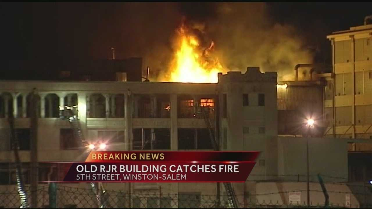 A massive fire breaks out at an old R.J. Reynolds Tobacco building in Downtown Winston-Salem.  Brian Slocum reports.