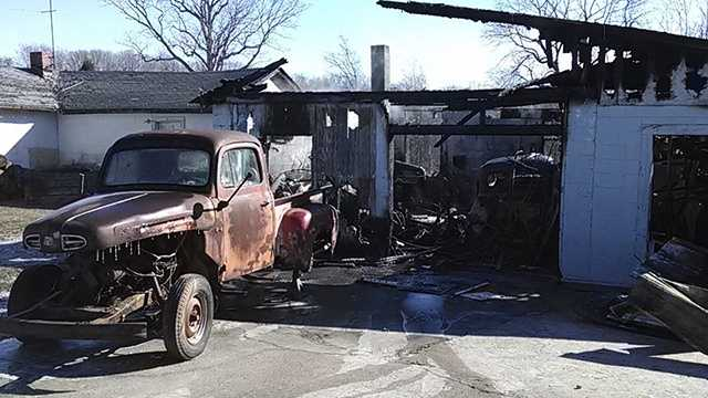 A fire destroyed an auto shop in Madison Friday morning.