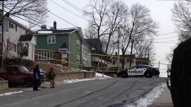 Scene of homicide in Bristol, Conn.