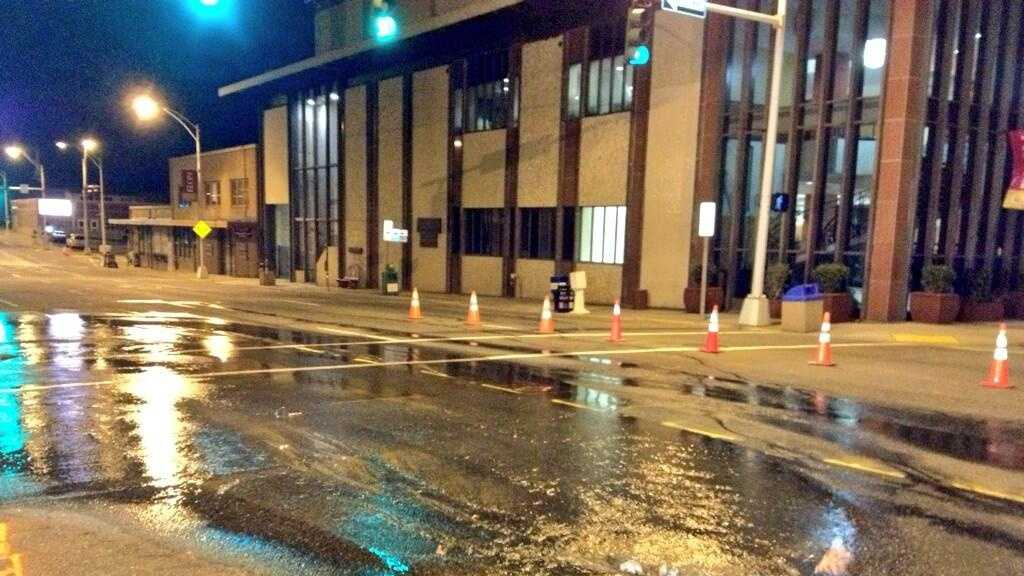 Water Main Break Greensboro