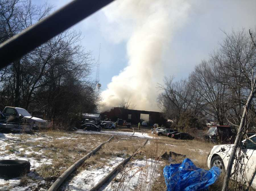 Multiple people have been taken to the hospital following a multi-alarm structure fire near downtown Greensboro.