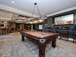 Basement Rec Room includes a Bar, a Home Theater and a Billiards area