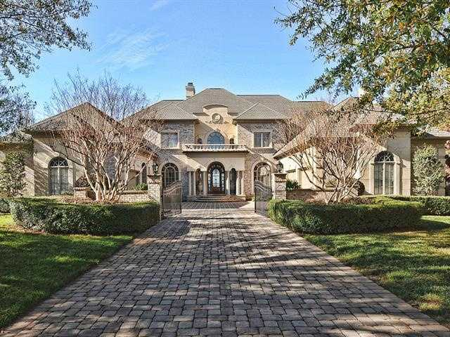 This six bedroom waterfront estate is located in Cornelius and priced at $3,600,000. The home features a second master bedroom suite with a private terrace, a home gym and a recreation room with a home theater.