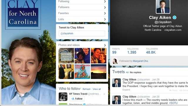 Clay Aiken Twitter page