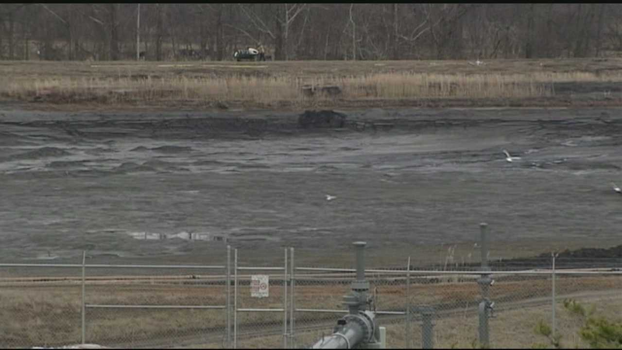 Rockingham County coal ash spill site