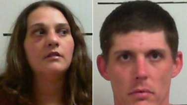 Susan Burnette, left, and Jeffrey McCoy, right