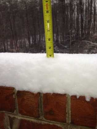 4 inches in 3 hours in Pilot Mountain