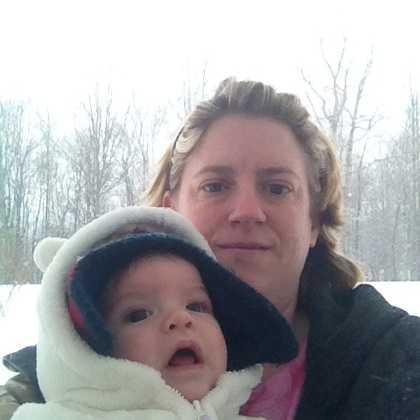 Snow selfie in Mount Airy